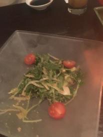 Half eaten salad