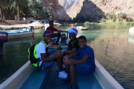 leaving the Wadi by boat