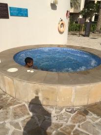 Zarien in the hot tub
