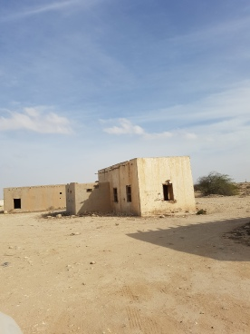 Old houses in the desert